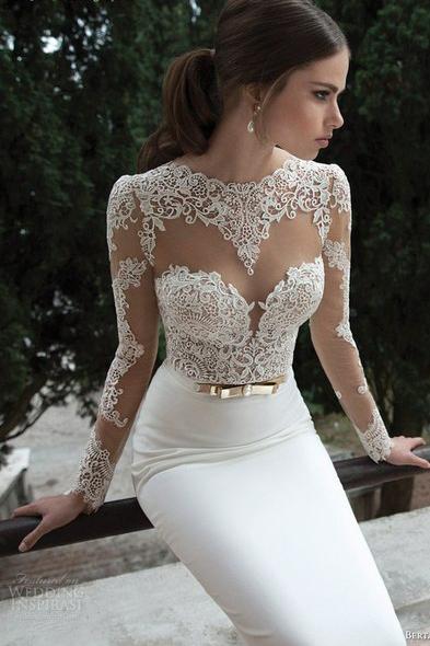 Кружевные свадебные платья купить в Москве