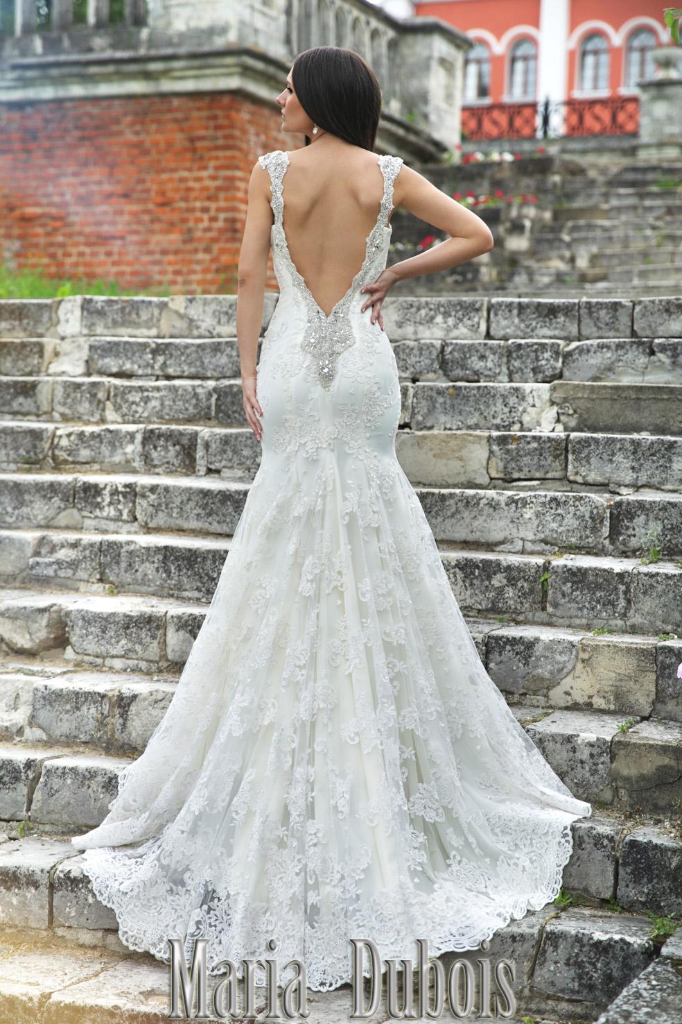 кружевное свадебное платье с открытой спиной