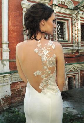 свадебное платье с открытой спиной, обтягивающее свадебное платье