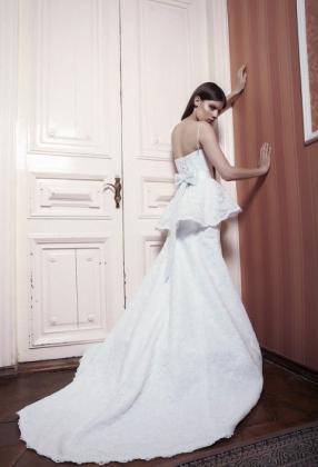 свадебное платье с баской